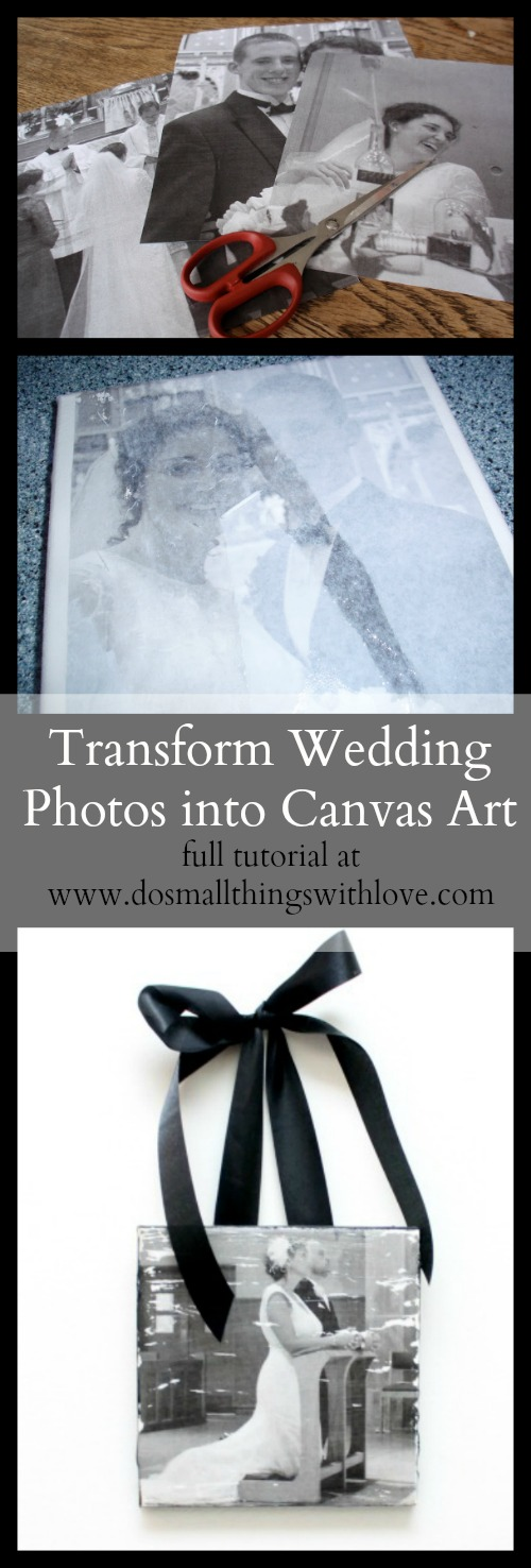 full tutorial for transforming your wedding photos into canvas art--inexpensive and beautiful