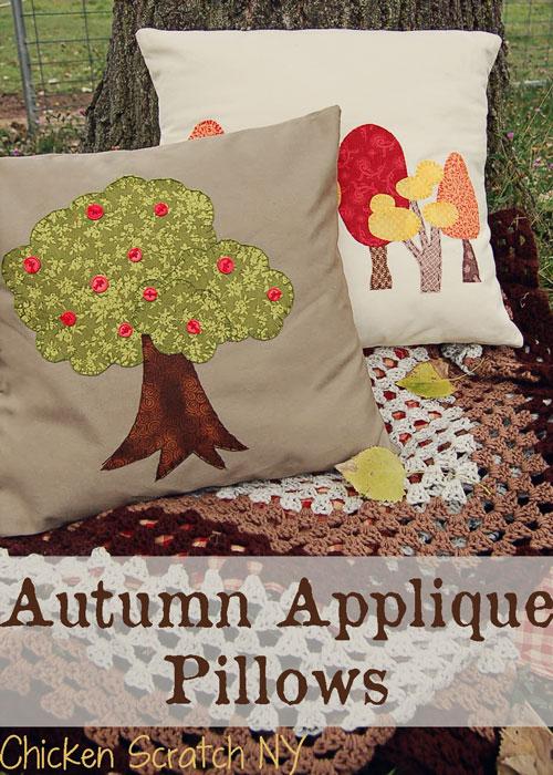 Autumn-Applique-Pillows