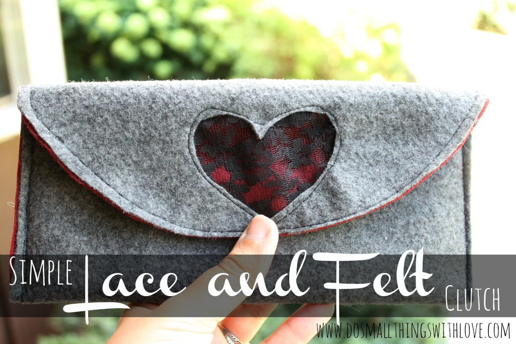 Lace and Felt Clutch Tutorial