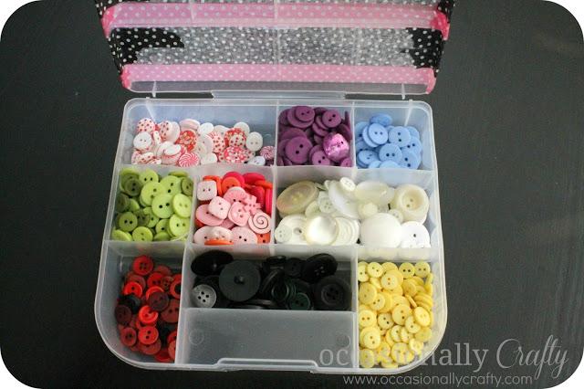 Washi Tape Button Storage 2