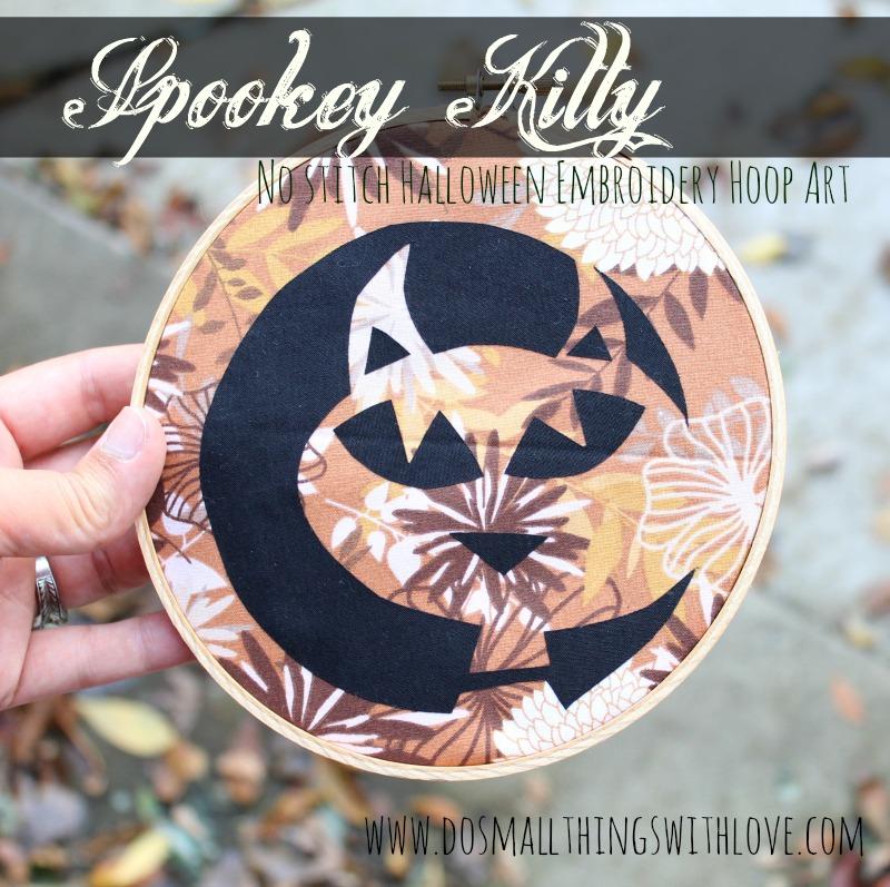 Spooky Kitty Embroidery Hoop Art