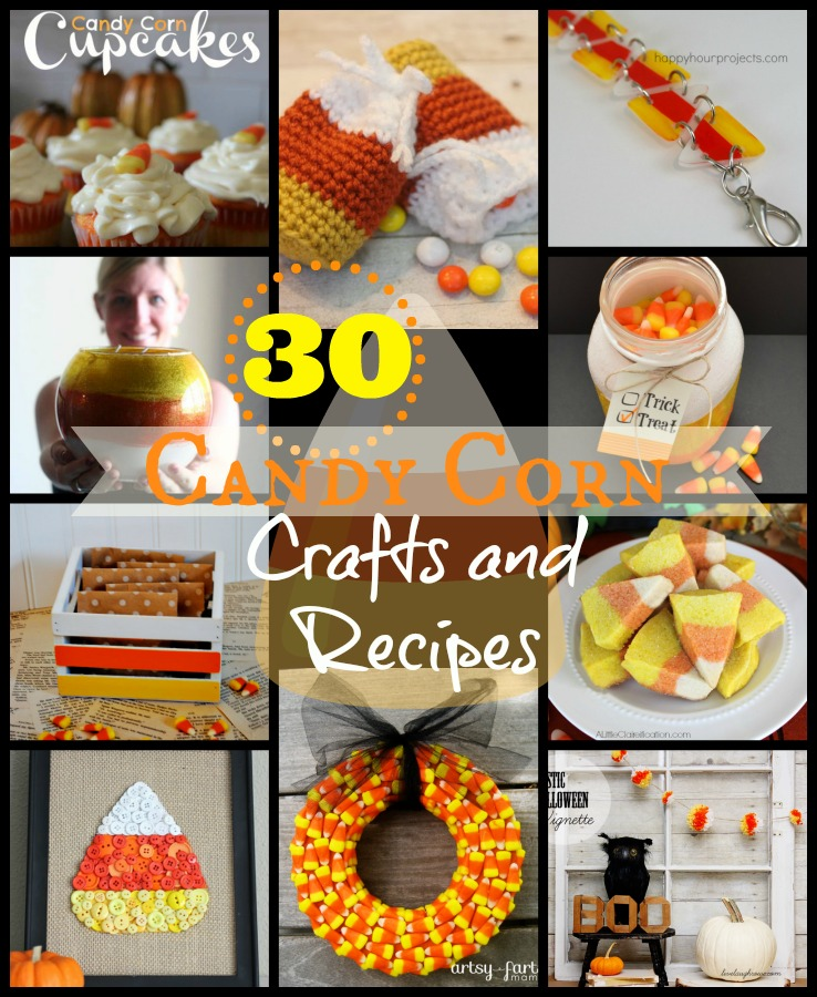 candy corn collage