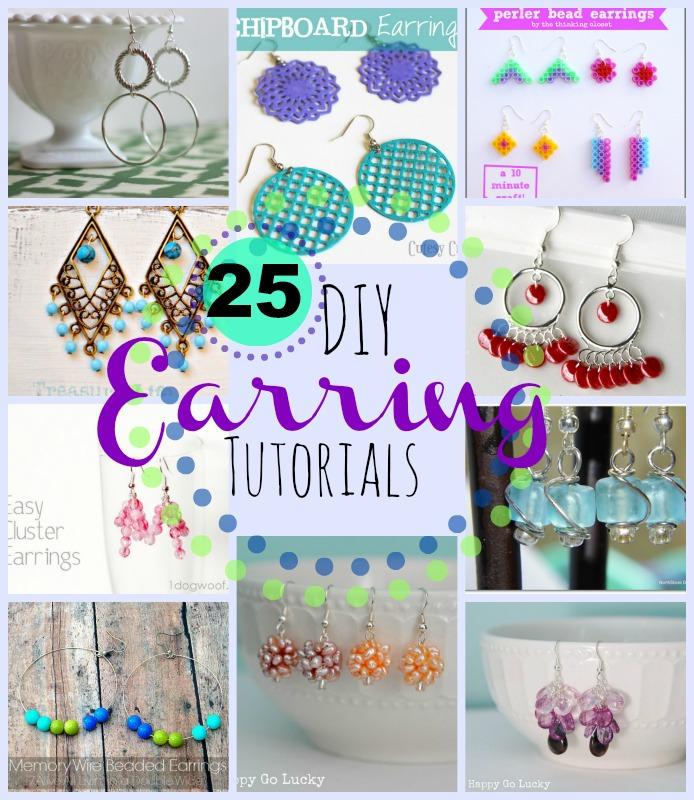 25 DIY earrings tutorials
