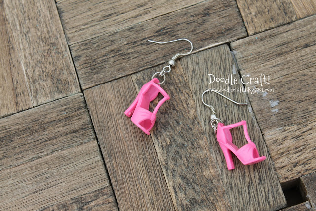 Barbie Shoe earrings super cute and simple to make (4)