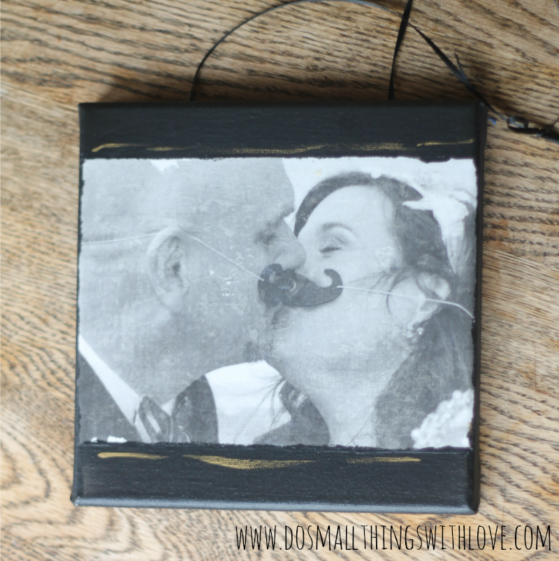 DIY Wedding Photo transfer to canvas