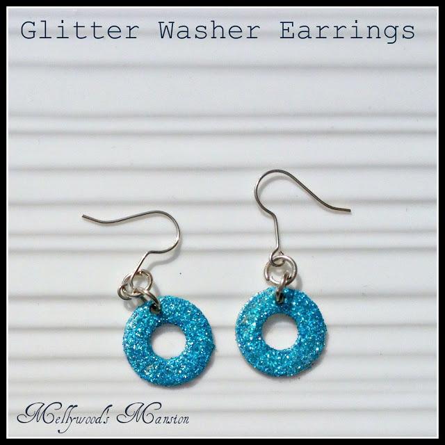 Glitter Washer earrings