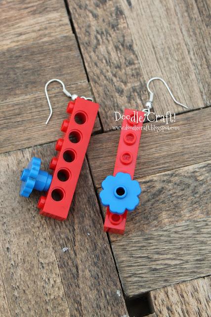 Lego Earrings easy to make (7)
