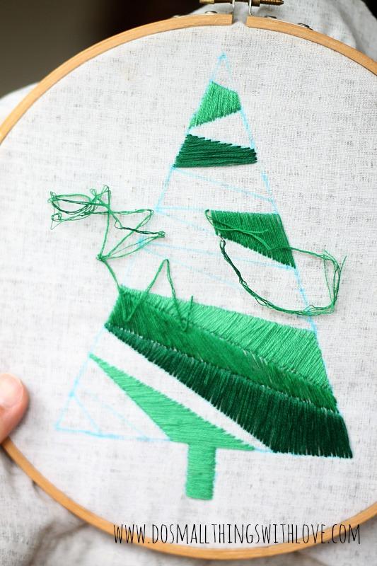 Satin Stitch Christmas Tree How to