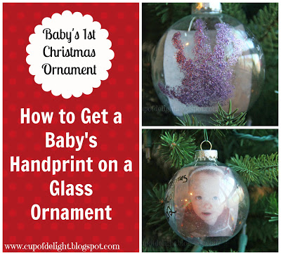 baby ornament title handprint