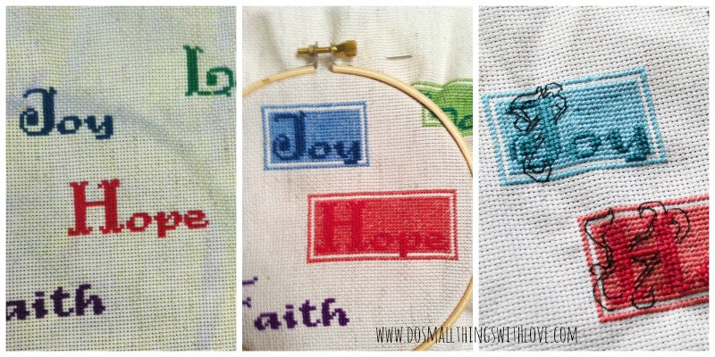 cross stitched words directions 1