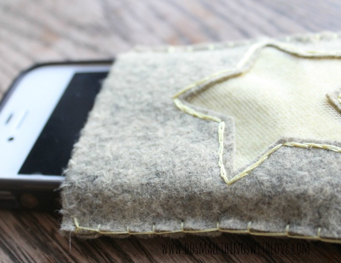 simple felt iphone case with free template