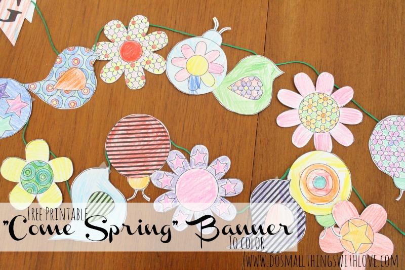 come spring banner printable