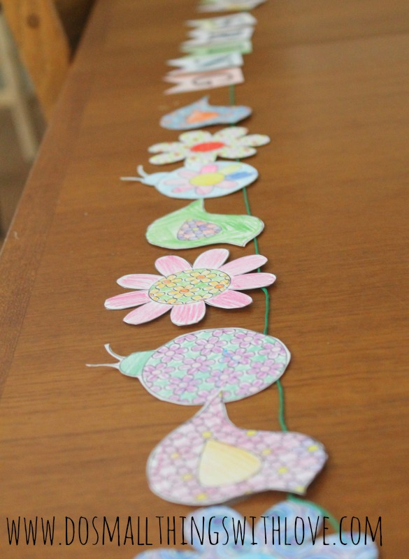 come spring free printable banner to color