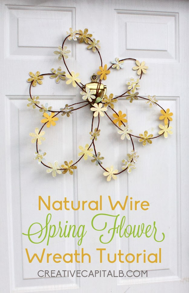 Make this Fun Spring Flower Wreath Super Fast and Easy