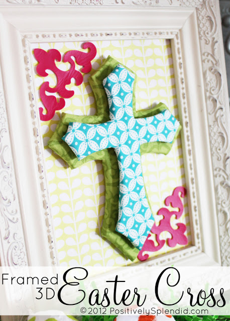 framed 3d Easter cross title
