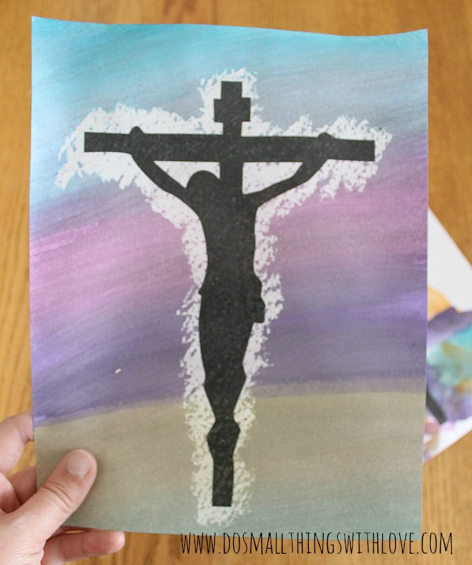 printable water color crucifix