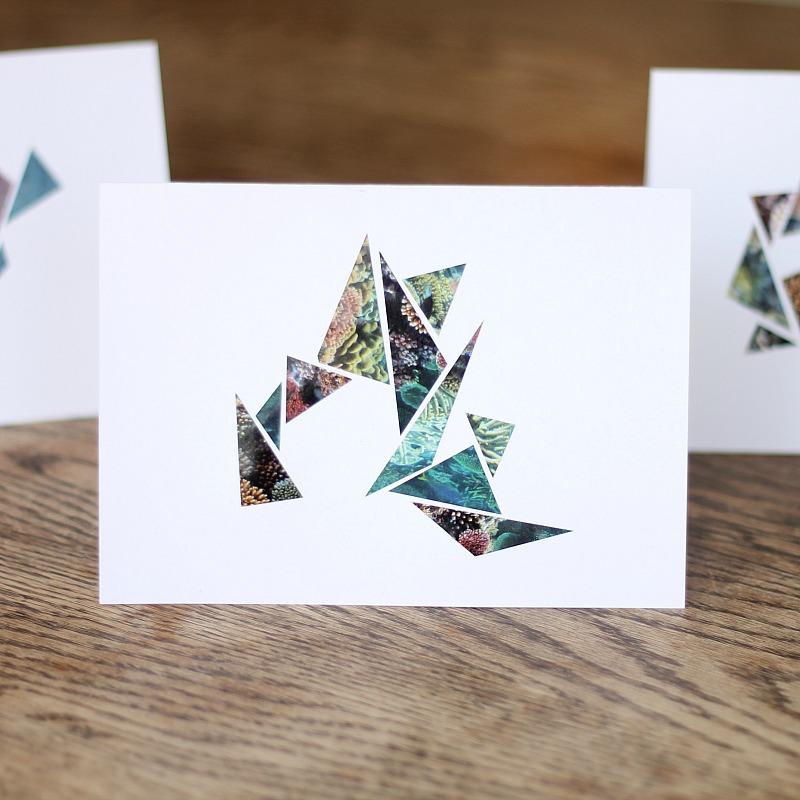 geometric scrap cards cg