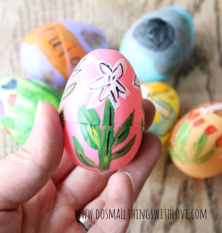 religious painted plastic easter eggs tutorial