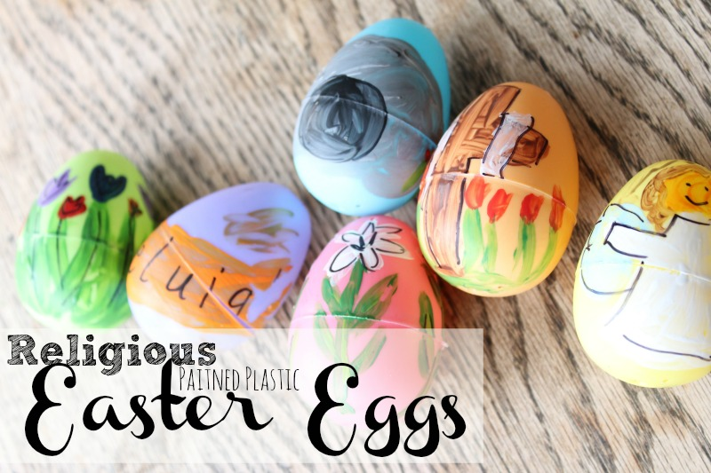 religious painted plastic easter eggs