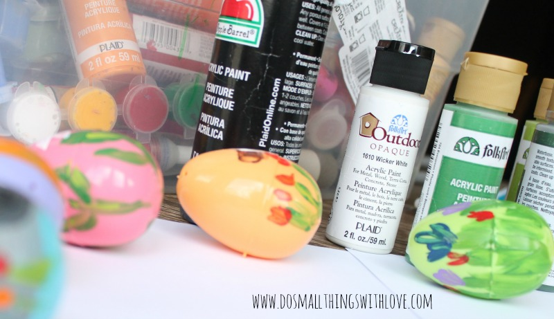 religious painted plastic eggs for easter