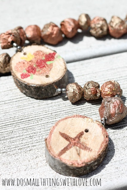 upcycled rosary made from newspaper beads