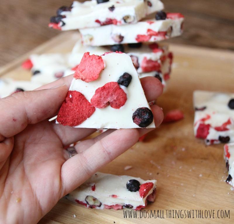berries and cream white chocolate simple recipe