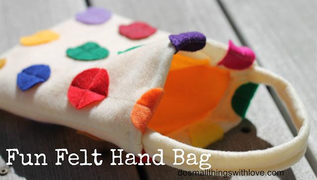 felt hand bag
