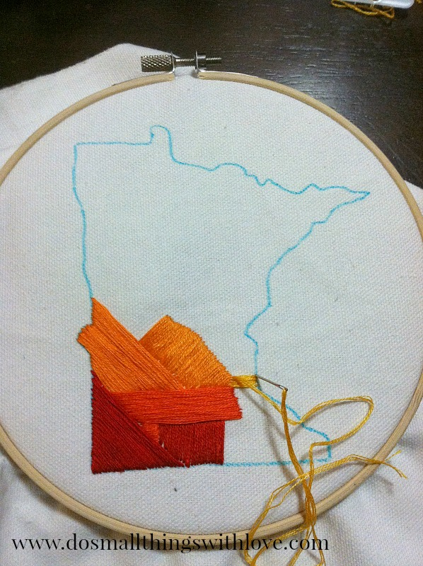state love embroidery craft
