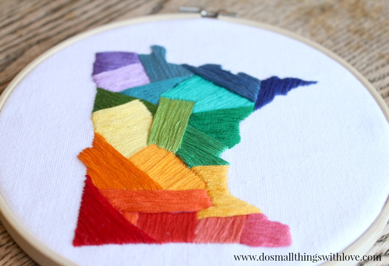 state love embroidery project for beginngers