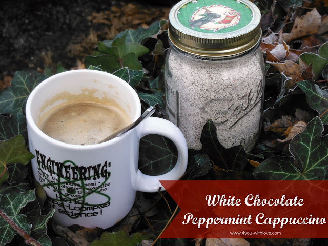 white chocolate peppermint cappuccino