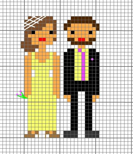 cross stitch wedding pattern