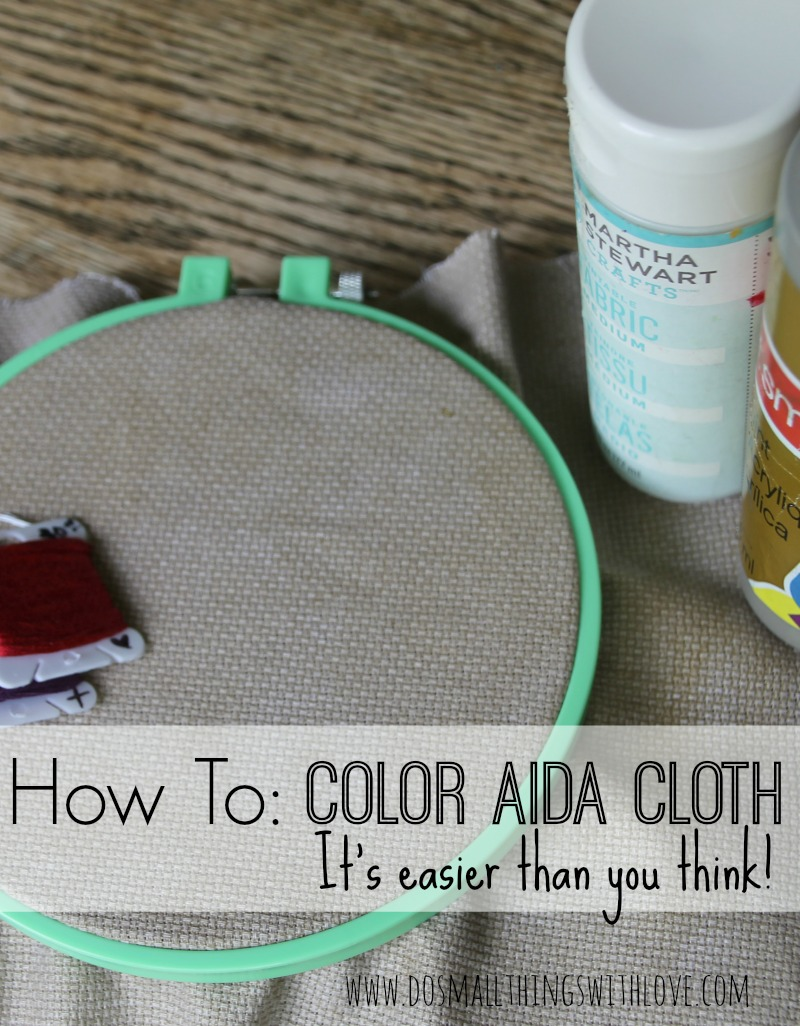 how to color aida cloth for cross stitch