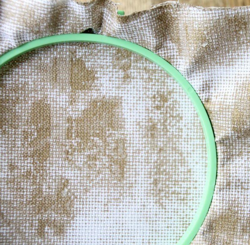 how to color aida cloth for cross stitching