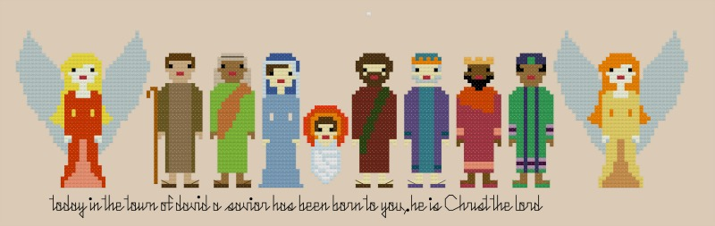 Pixel People Nativity Characters