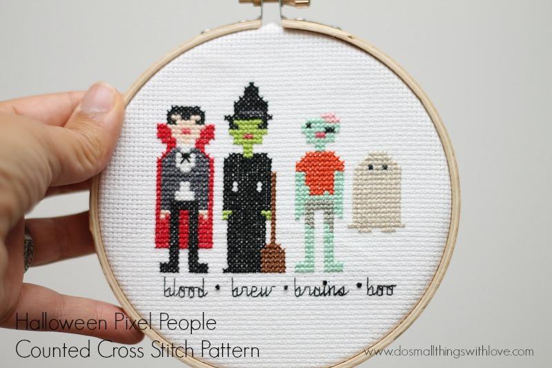 Halloween-Characters-cross-stitch-pattern