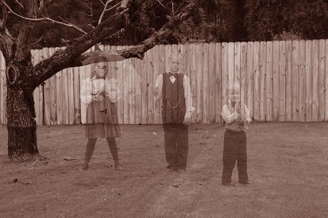 dead tree 3 kids jpeg sepia