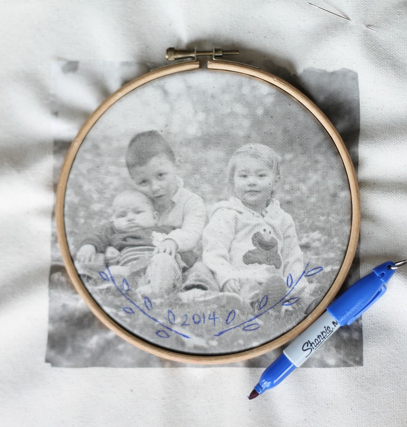 Embroidered Photo transfer tutorial