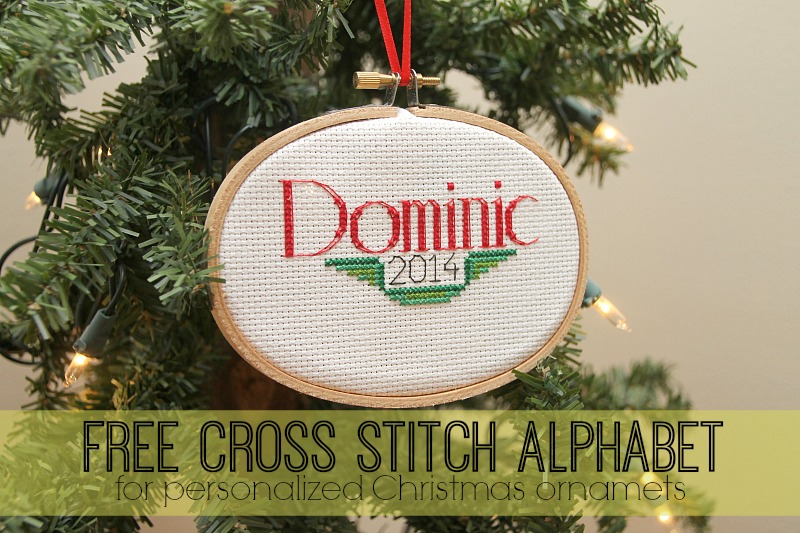 cross stitch font for ornaments
