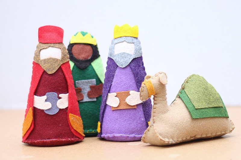 felt nativity new camel w kings