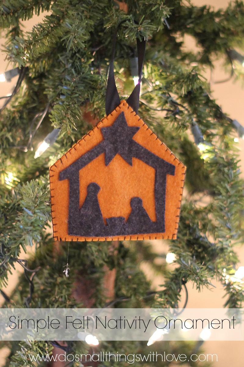 felt nativity ornament