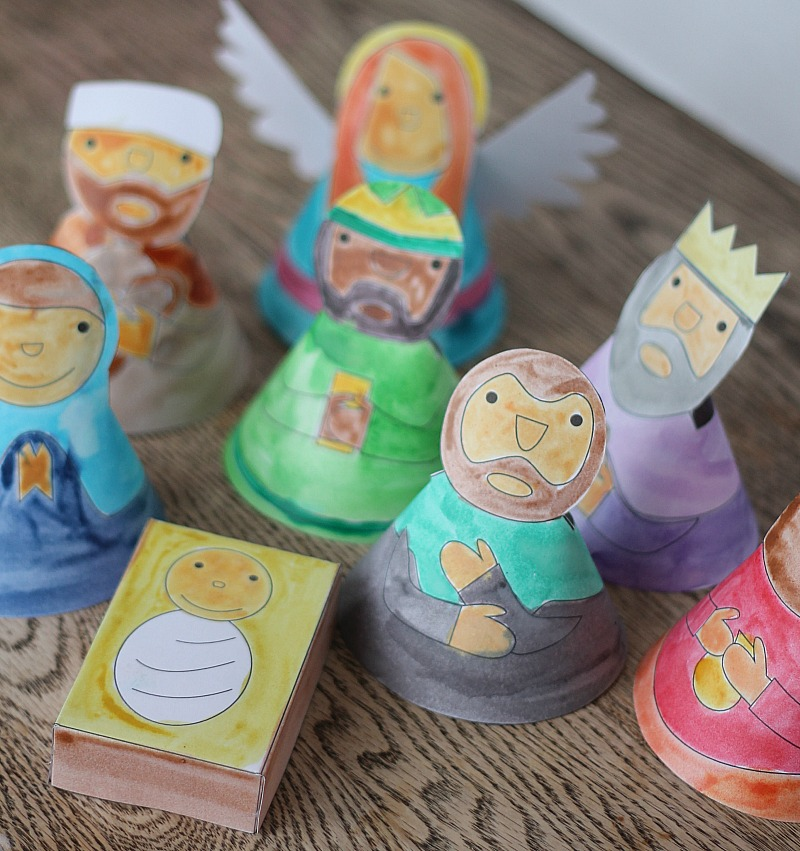 color a nativity set this Christmas