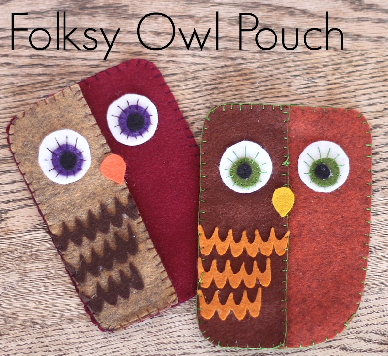 folksy owl pouch template and tutorial