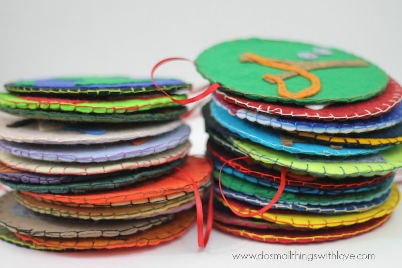 jesse tree ornaments blanket stitch