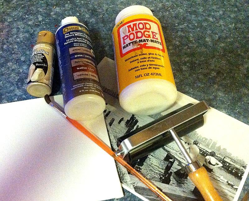 rustic photo transfer supplies