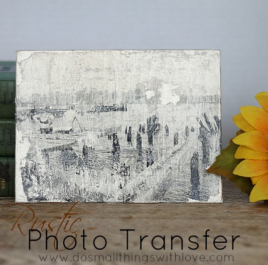 rustic photo transfer