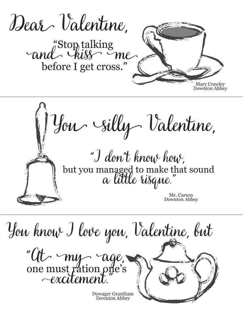Downton Abbey Valentines pdf