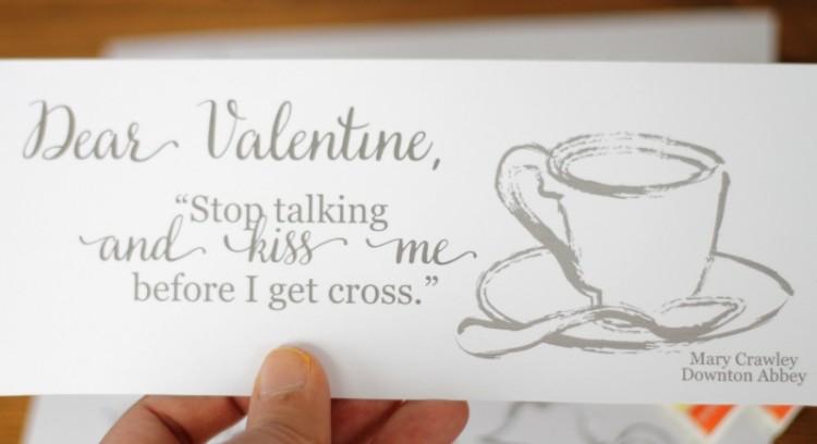 downton abbey set of free printable valentines