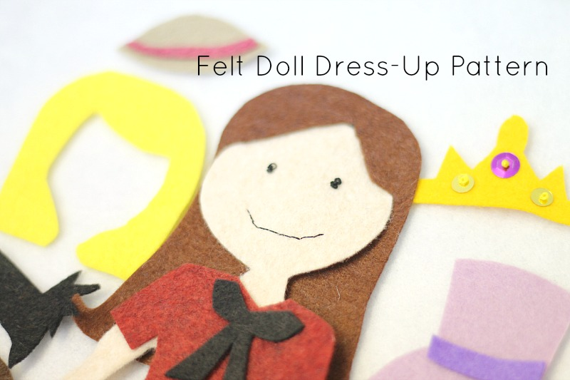 felt dress up doll pattern