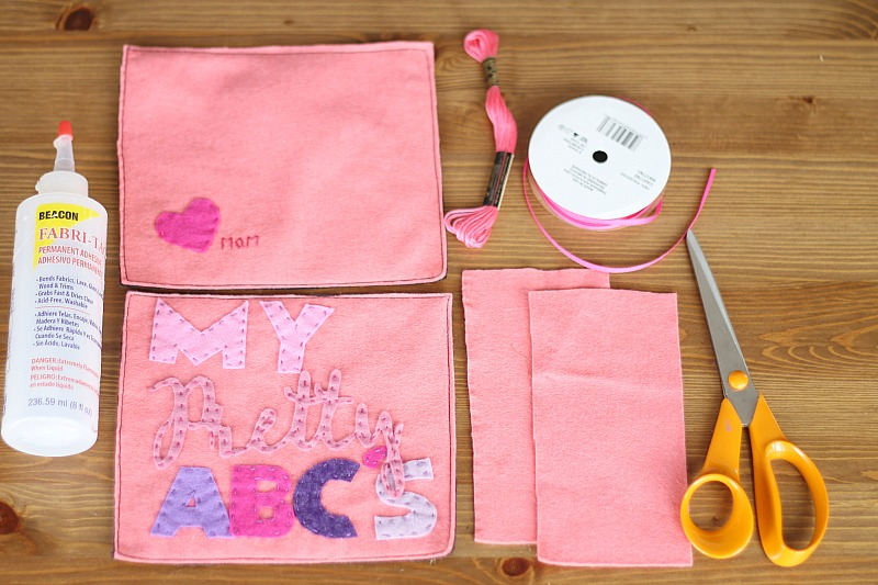 Binding a felt book-supplies