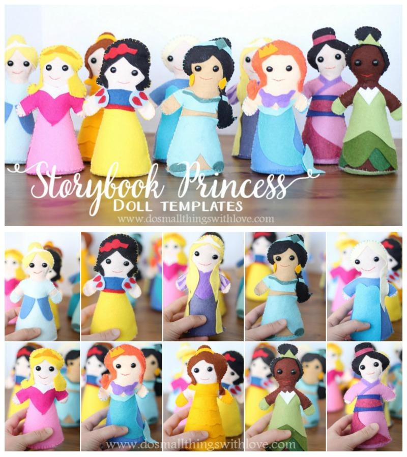 Storybook Princess as dolls--template!